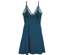 Lace-trimmed stretch-jersey chemise