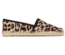 Leopard-print Calf Hair Espadrilles Animal Print