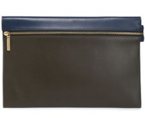 Two-tone leather pouch