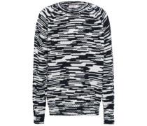 Marled Merino Wool Sweater Black