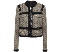 Embellished Bouclé-tweed Jacket Gold