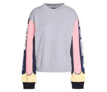 Printed stretch-cotton sweatshirt