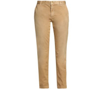 Cotton-twill Straight-leg Pants Sand  6