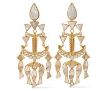 Fish Statement gold-tone mother-of-pearl clip earrings
