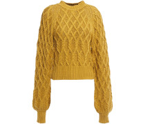 Woman Roesia Cable-knit Cotton Sweater Mustard