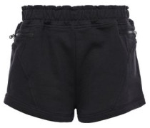 Woman + Adidas French Cotton-terry Shorts Black