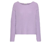 Ribbed Cotton-blend Sweater Lavender