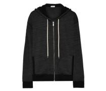 Jersey Hooded Jacket Black