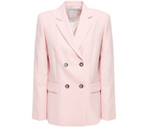 Woman Omer Double-breasted Piqué Blazer Blush