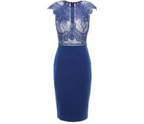 Chantilly Lace And Ponte Dress Royal Blue