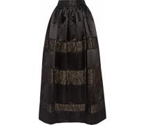 Prima lace-paneled satin maxi skirt