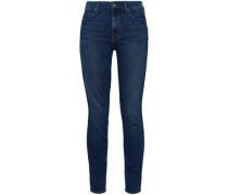 High-rise Skinny Jeans Mid Denim  4