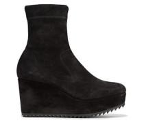 Suede platform sock boots