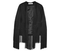 Cortado Fringed Crepe Jacket Black