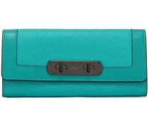 Pebbled-leather continental wallet