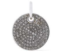 Ava sterling silver diamond pendant