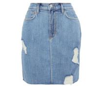 Manuela Distressed Denim Mini Skirt Light Denim  3