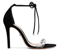 Ramon Studded Pvc-trimmed Nubuck Sandals Black
