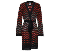Crochet Wool-blend Cardigan Black