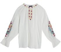 Alyssa embroidered cotton-gauze tunic