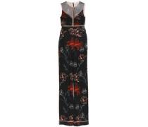Floral-print silk crepe de chine jumpsuit