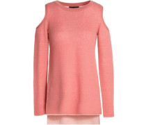 Wade cold-shoulder wool and cashmere-blend sweater