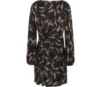 Twisted silk-jacquard mini dress