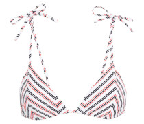 Avery Striped Ribbed Triangle Bikini Top