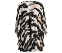 Kris lace-up printed voile coverup