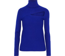 Camden cutout stretch-knit turtleneck sweater