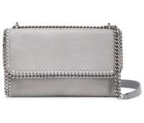 Falabella Faux Brushed-leather Shoulder Bag Stone Size --