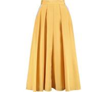 Lilian pleated silk-blend skirt