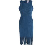 Khloe fringe-trimmed metallic bandage dress