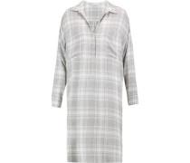 Plaid broadcloth shirt dress