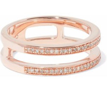 18-karat rose gold-plated sterling silver diamond ring