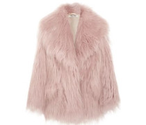 Faux Fur Jacket Pastel Pink