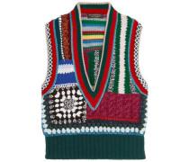 Jacquard-knit Gilet Multicolor