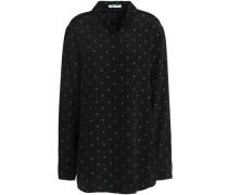 Polka-dot silk shirt