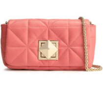 Quilted Leather Shoulder Bag Antique Rose Size --