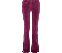 Cotton-blend flared pants