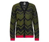 Jacquard-knit Cardigan Army Green