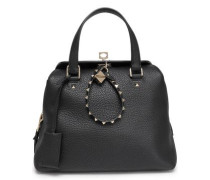 Studded Textured-leather Tote Black Size --