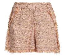 Frayed cotton-blend jacquard shorts