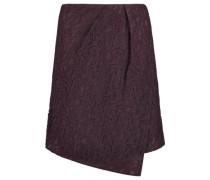 Wrap-effect guipure lace mini skirt