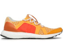 Ultraboost Mesh-trimmed Stretch-knit Sneakers Marigold