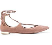 Christy velvet point-toe flats
