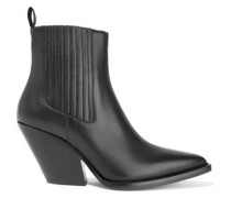 The Truth Leather Ankle Boots Black