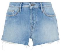 Le Stud Distressed Denim Shorts Light Denim  8