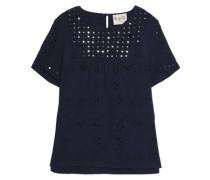 Embellished cotton-gauze top