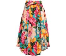 Jackie Floral-print Cotton0blend Midi Skirt Multicolor